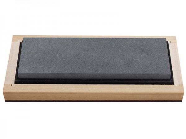 RH PREYDA Surgical Black Arkansas Bench Stone,, Körnung 4000-6000, Stein 150x50x13 mm, Holzschatulle