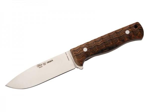 Nieto Jagd-/Outdoormesser YESCA, Stahl 1.4116, Full Tang,, Drop Point, Flachschliff, Cocobolo-Schale