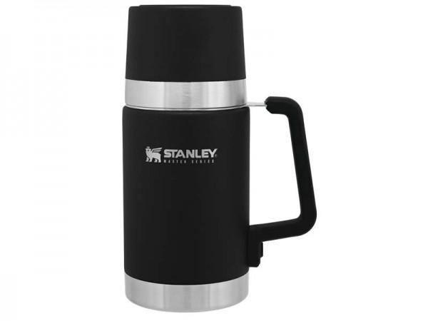 Stanley MASTER VACUUM FOOD JAR, 709 ml, QuadVac Isolierung,, mattschwarze Beschichtung, Silikon umma