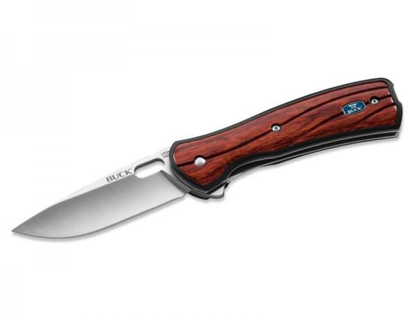 Buck Einhandmesser VANTAGE AVID, Stahl 420HC, Flipper,, Liner Lock, GFK-Schalen, Rosenholzeinlagen,