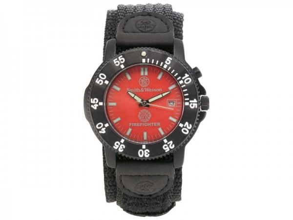 Smith & Wesson Uhr Fire Fighter, Hintergrundbeleuchtung,, Nylon-Armband, WEEE-Reg.-Nr. DE93223650