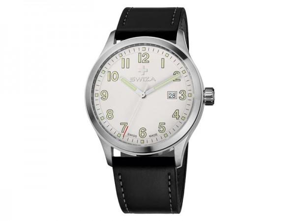 Swiza Uhr Kretos Gent, Schweizer Qualitäts-Quarzlaufwerk,, Gehäuse Edelstahl 316L, gebürstet/poliert