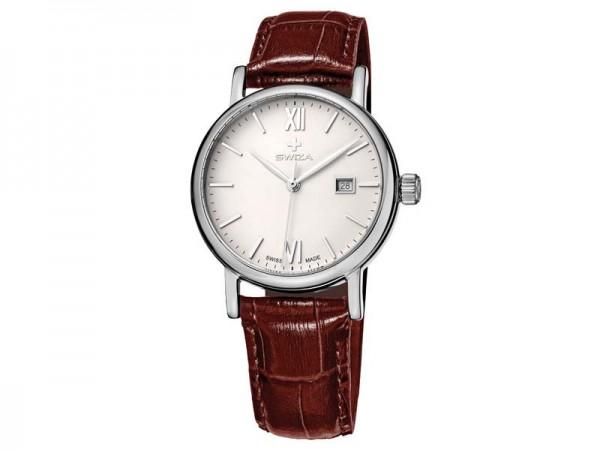 Swiza Uhr Alza Lady, Schweizer Qualitäts-Quarzlaufwerk,, Gehäuse Edelstahl 316L, poliert, Mineralgla