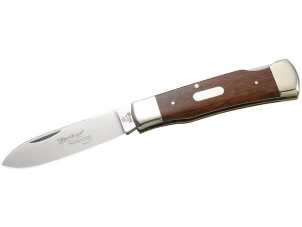Hartkopf-Taschenmesser, 1.4110-Stahl, Schlangenholz,, Neusilberbacken