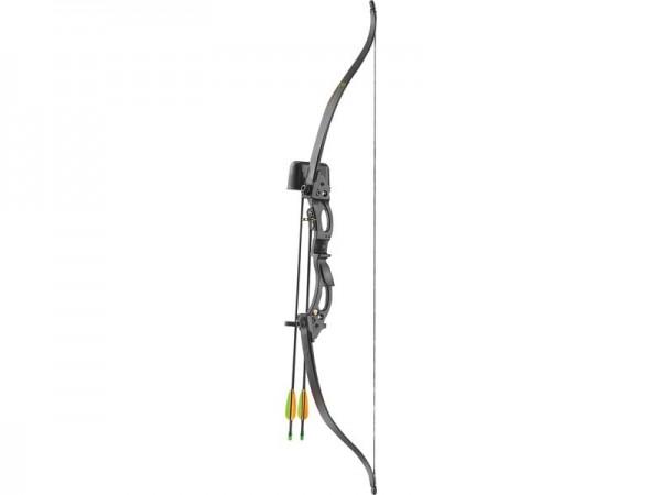 Ek-Archery Recurve Jugendbogen Set Korrigan, Köcher,, Zuggewicht 6,8-9,1 kg(15-20lbs.) 2 Fiberglaspf