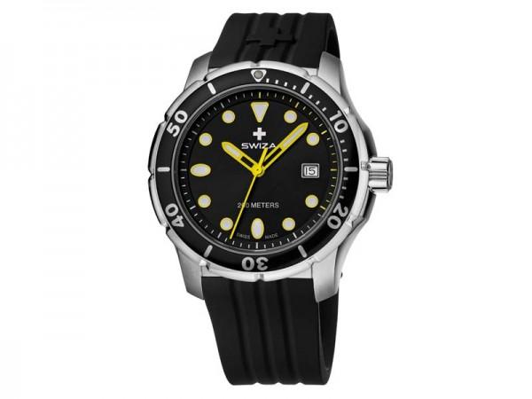 Swiza Uhr Tetis Gent, Schweizer Qualitäts-Quarzlaufwerk,, Gehäuse Edelstahl, Saphirglas, schwarzes S