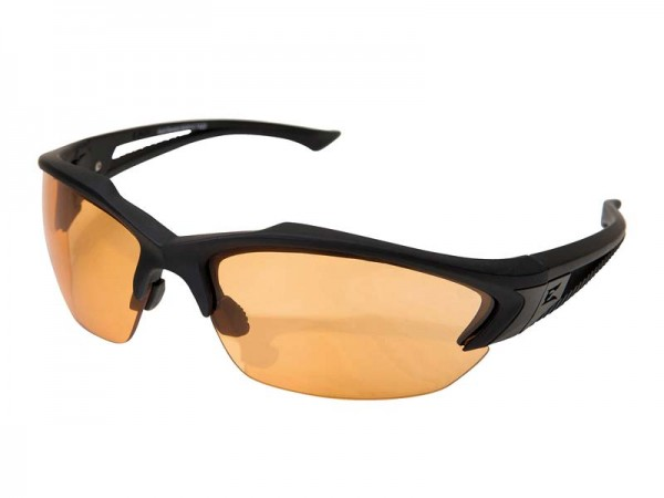 Edge Tactical Safety Eyewear, Acid Gambit, matt Schwarz,, antikratzbeschichtet, beschlagfreie Tiger`