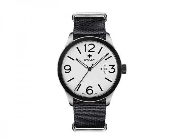 SWIZA Armbanduhr MAGNUS BLACK, ETA F07.111 Uhrwerk, 316L,, 316L-Lünette, PVD-beschichtet, schwarzes