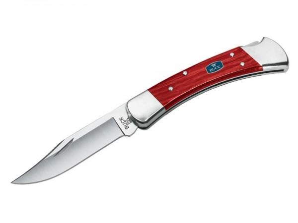 Buck Taschenmesser 110 FOLDING HUNTER, Stahl 420HC,, Back Lock, Neusilberbacken, Kirschholzschalen,