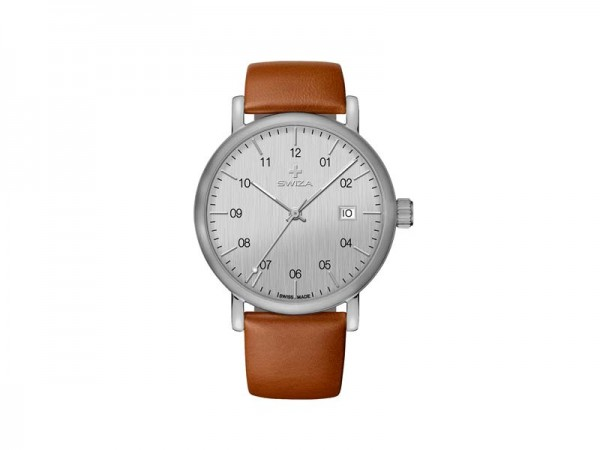 SWIZA Armbanduhr ALZA, Schweizer Quarzwerk Ronda 515,, Edelstahl 316L, Mineralglas, saphirbeschichte