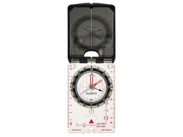 SUUNTO Spiegelkompass MC-2 Global, Spiegel mit Kimme,, Peilloch, Global Blancing System, Dämmerungsm