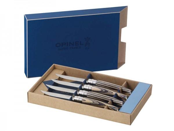 Opinel Steakmesser, 4er Set, Birke,
